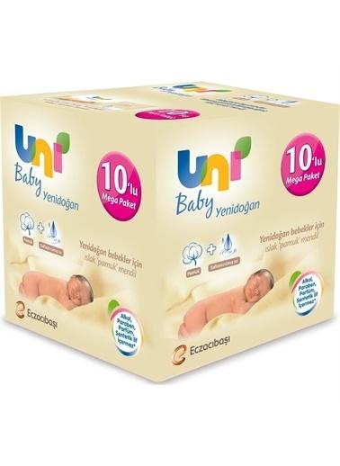 Uni Baby Yenidoğan Islak Pamuk Mendil 10x40 Set Renkli